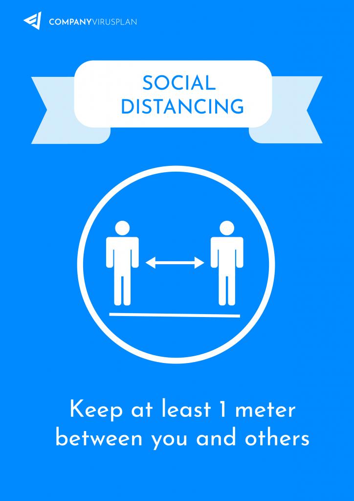 6 feet distance coronavirus poster